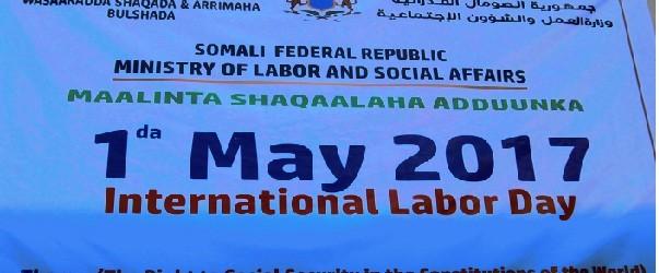 1da May munaasabadda maalinta shaqaalaha aduunka oo lagu qabtay Muqdisho waxaa ka qeyb galay Ra'iisul wasaaraha Soomaaliya